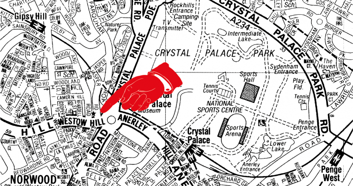 Map to Crystal Palace Antiques