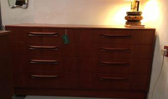 Teak 8 drawer chest £245
