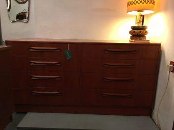 Teak 8 drawer chest
