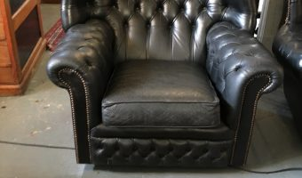 Chesterfield leather armchair £235