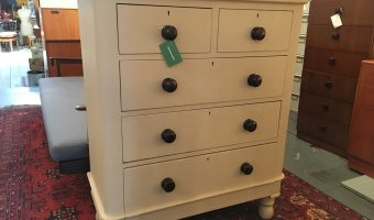 Victorian painted chest of drawers. £235