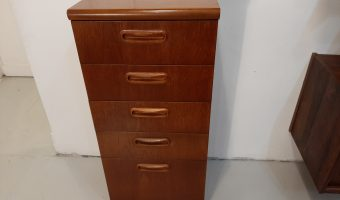 Teak chest of drawers