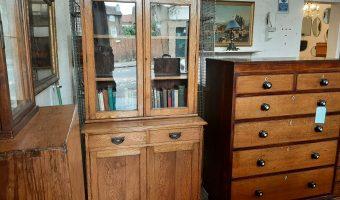 Oak bookcase £395