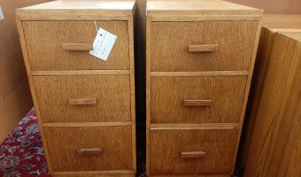 Pair of converted art-deco bedside cabinets £320
